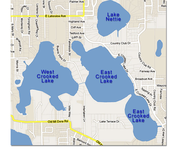 Lakefront Florida Email Thank You Page - Map of florida lakes