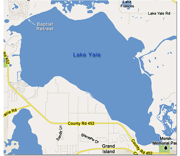Lake Yale Florida Map.Map Of Lake Yale In The Harris Chain Of Lakes Central Florida